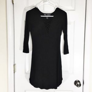 Polly & Esther Black T-Shirt Dress Size Small